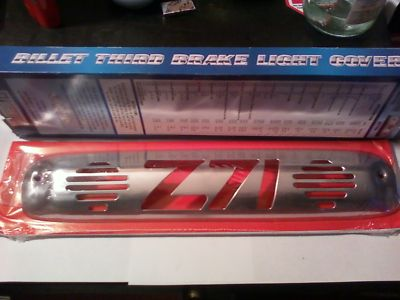 THIRD BRAKE LIGHT Z71 COVER BILLET CHROME 99/up GM P/U