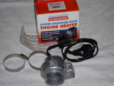 ZEROSTART LOWER RADIATOR HOSE ENGINE HEATER 2""