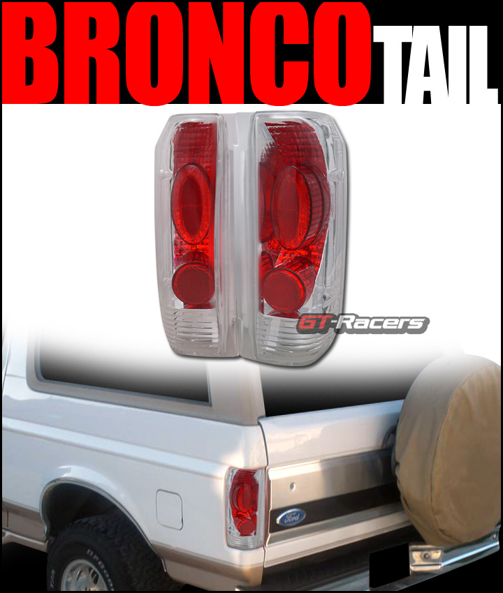 FORD BRONCO F150/F250 EURO CLEAR BRAKE TAIL LIGHTS LAMP