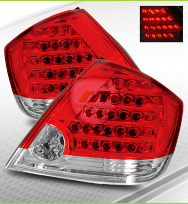 0510 Scion tC JDM Red Clear LED Tail Lights Brake Lamp