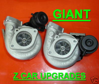 2 GIANT NISSAN 300zx Twin Turbo Upgrade Turbochargers