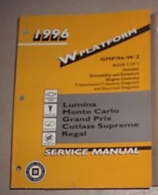 1996 Chevy GM Transmission Electrical Service Manual