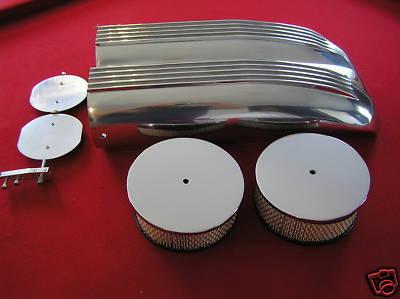 Aluminum dual inlet air cleaner filter shotgun scoop