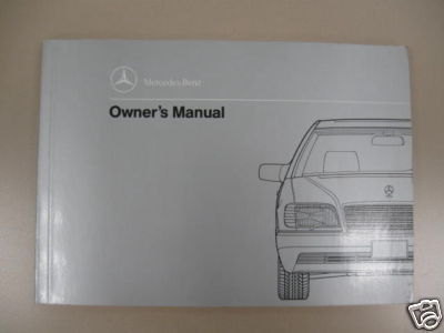 1991 Mercedes Benz 300D 2.5 Turbo Owners Manual 124