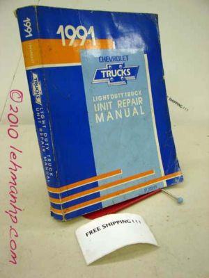1991 Chevrolet Engine Transmission Overhaul Shop Manual