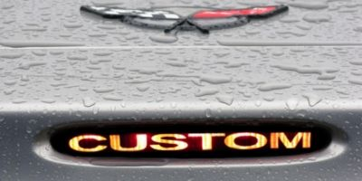 9704 CHEVY CORVETTE 3RD BRAKE LIGHT COVER DECAL CUSTOM