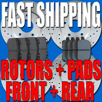 Acura TSX 04 05 06 07 08 F&R Brake Rotors Pads