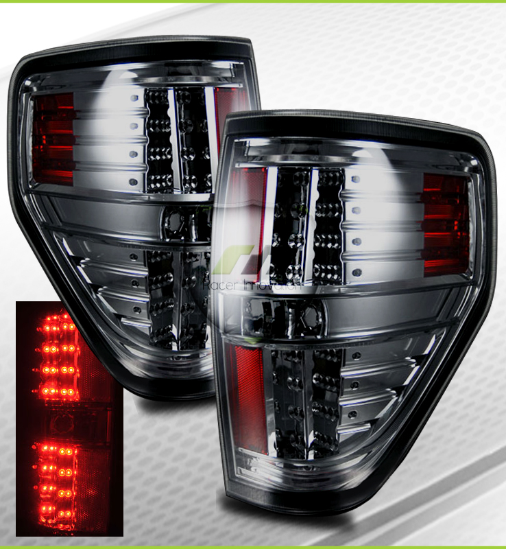 0910 Ford F150 Smoked Tint LED Tail Lights Brake Lamps