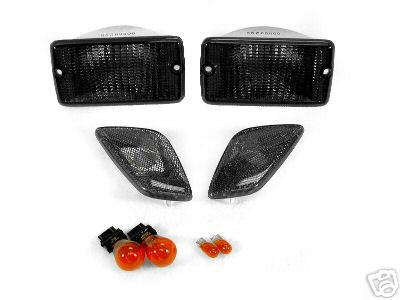 01 02 03 JEEP WRANGLER TJ SMOKE BUMPERS  SIDE MARKERS