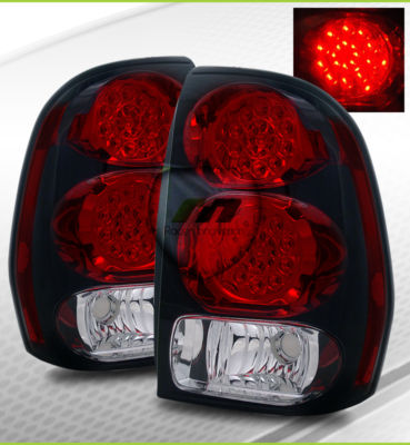 Chevy Trailblazer Red Clear LED Tail Lights Brake Lamps