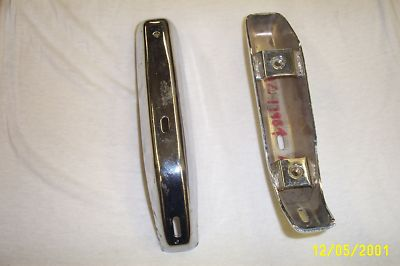 1972 Full Size Ford Pair Rear Bumper Guards No Pads