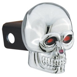 Skull Hitch Cover with Brake Light