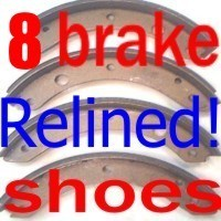 brake shoes Olds  1941 1942 43 1946 1947 1948 1949 1950