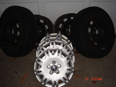 Volkswagon Studded Winter Tires and Rims
