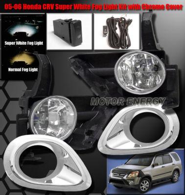 05 06 HONDA CRV CRV JDM OEM BUMPER FOG LIGHTS COVER