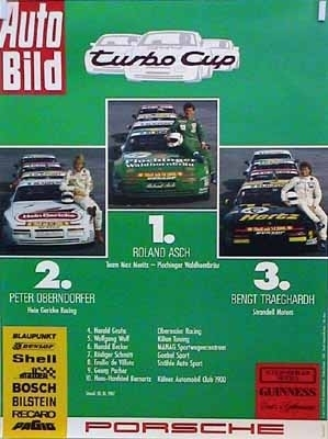 Porsche 944 Turbo Cup Factory Racing Poster30x40