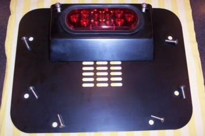 Jeep JK Rear Center Cover Plate & 3rd brake tail  light