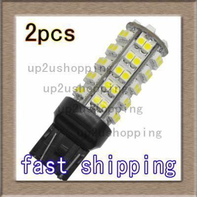 2x 68 SMD LED 7440 7443 T20 Tail Brake Turn Bulbs White
