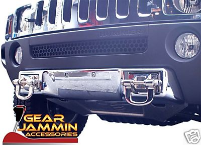 0607 Hummer H3 CHROME FRONT LOWER BUMPER / APRON COVER
