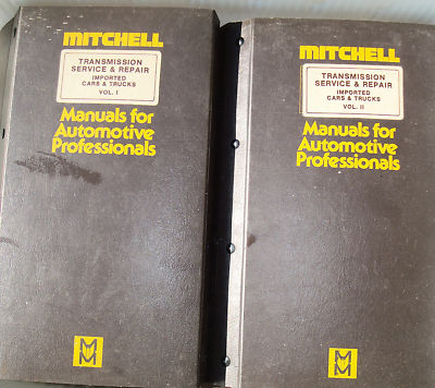 197181 Mitchell Transmission Import service manuals