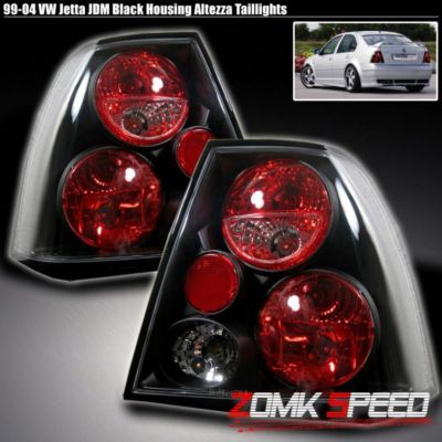 9905 VW JETTA MK4 BLACK ALTEZZA REAR TAIL BRAKE LIGHTS