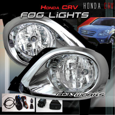 CRV CLEAR BUMPER DRIVING FOG LIGHTS LAMPSCOVERSWITCH