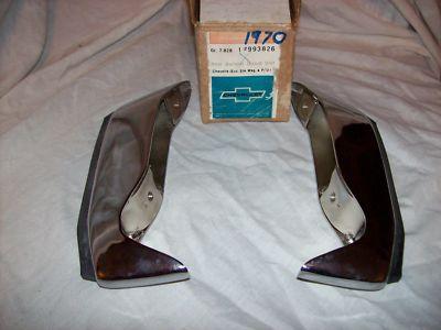 1970 chevelle malibu nos rear bumper guards bumpetes