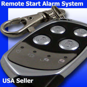 UNIVERSAL BLUE REMOTE ENGINE START CAR ALARM SYSTEM