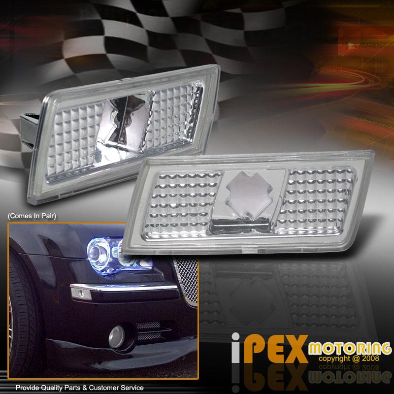 0408 Chrysler 300/300C Clear Side Marker Bumper Lights