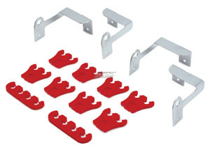 SPARK PLUG WIRE LOOM SEPARATORS DIVIDERS RED 79 MM
