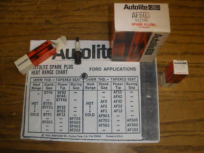NOS NASCAR BOSS 429 Autolite AF 503 racing spark plugs