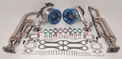 Small Block Chevy Twin Turbo kit SBC 350 383 750hp