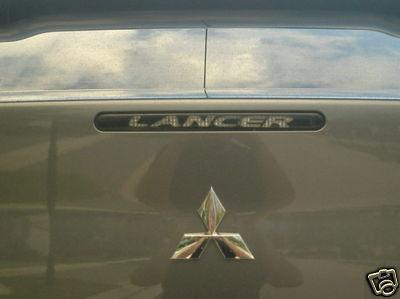 07 08 09 MITSUBISHI LANCER 3RD BRAKE LIGHT COVER DECAL