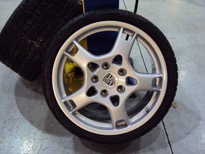 Set of 4 Porsche Wheels and Winter Tires Perelli