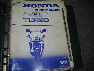 1982 Honda CX500 Turbo Shop Service Repair Manual OEM