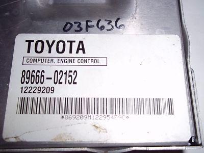 03 TOYOTA COROLLA ENGINE ECM ECU 89666 02152 COMPUTER