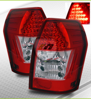 0508 Magnum Red Clear Euro LED Tail Lights Brake Lamps