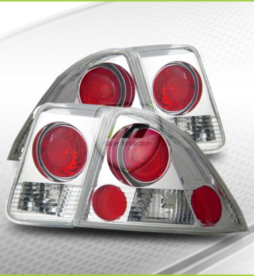 0105 Honda Civic 4DR Chrome Tail Lights Brake Lamps