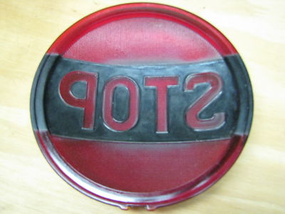 One  Vintage Antiuque AUTO GLASS BRAKE LIGHT COVER