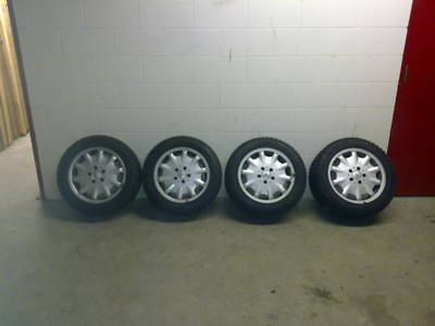EClass Mercedes rims with  winter tires