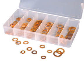 110 Copper Washer Assortment Set Brake Gasket Tool Kit