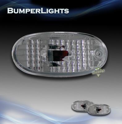 9702 MIRAGE CLEAR REAR BUMPER LAMPS SIDE MARKER LIGHTS