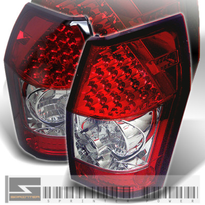 0508 MAGNUM RED/CLEAR LED TAIL REAR LIGHTS BRAKE LAMPS