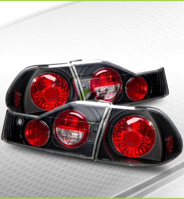 9800 Accord 4DR Black Altezza Tail Lights Brake Lamps