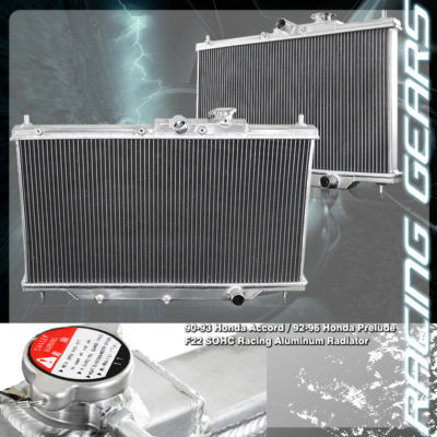 Aluminum JDM Manual Transmission Racing Radiator 2 ROW