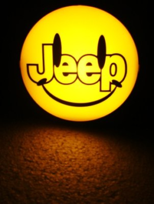 JEEP HAPPY FACE HITCH COVER 2″ RECIEVER BRAKE LIGHTDX