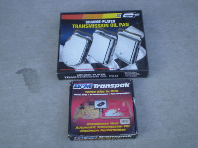 B&M Shift Kit & Mr Gasket Chrome Pan for Turbo 350,