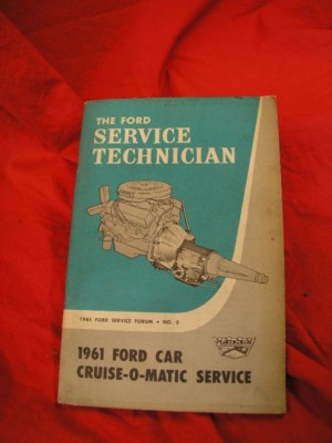 1961 62 63 Ford transmission&brake service manuals TSB