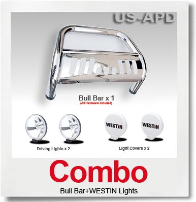 Combo for Trailblazer/Envoy Bull Bar and S/S Westin Light