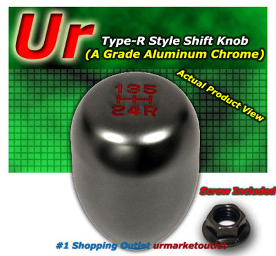 Aluminum Universal 5SPDS Type R Gun Metal Manual Transmission MT Shift Knob